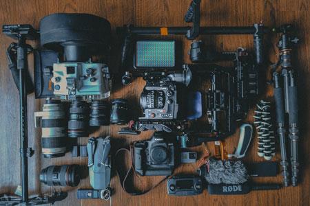 A set of camera equipment